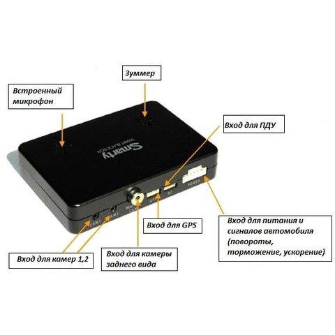 3-канальный автомобильный видеорегистратор с GPS Smarty BX3000 Превью 1