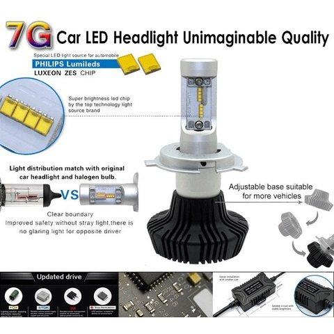 Набор светодиодного головного света UP-7HL-9006W-4000Lm (HB4, 4000 лм, холодный белый) Превью 3