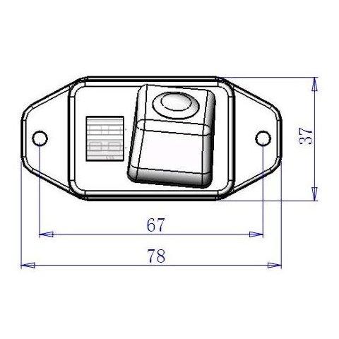 Cámara de visión trasera para Toyota Land Cruiser Prado Vista previa  4