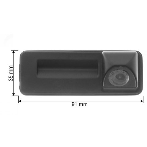 Tailgate Rear View Camera for Skoda Fabia 2012-2015 MY Preview 1