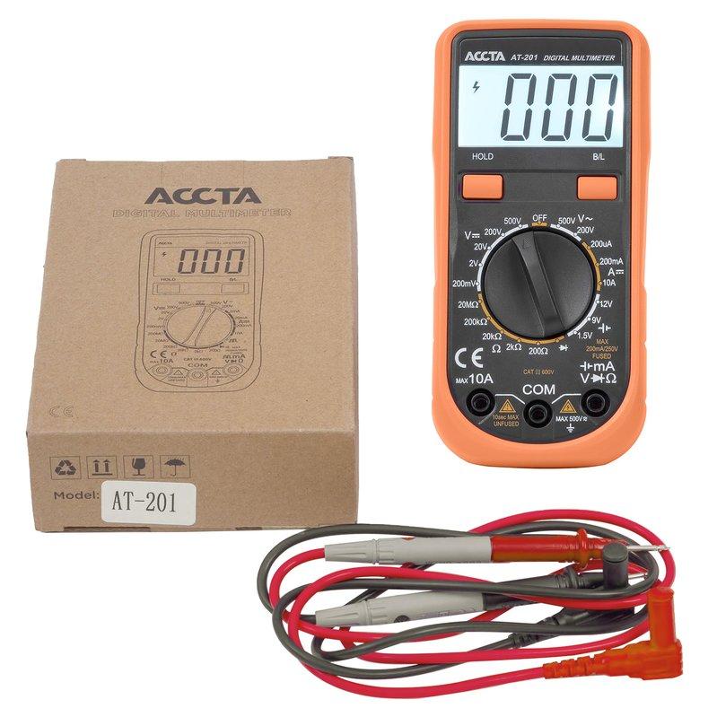 Цифровий мультиметр Accta AT-201 Зображення 8