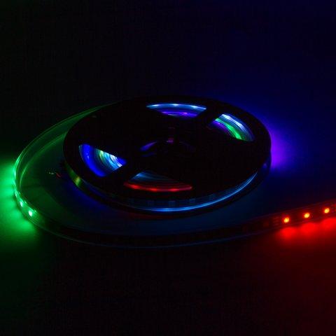 Світлодіодна стрічка RGB SMD5050, WS2811 (біла, з управлінням, IP67, 12 В, 30 діодів/м, 5 м) Прев'ю 1